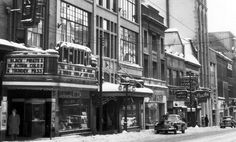 Sparks Street - showing Centre Theatre and Murphy Gambles ca 1955 Movie Theater, Ontario, Vintage Photos, Heartstrings, The Neighbourhood, Street View, In This Moment, Urban, Centre