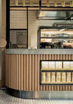 Nutorious snack bar sydney by Luchetti Krelle Australian Interior Design, Interior Design Awards, Retail Interior, Cafe Interior, Design Bar Restaurant, Deco Restaurant, Coffee Shop Design, Cafe Design, Commercial Design