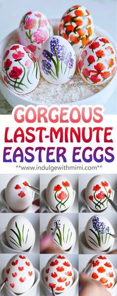 Easter Eggs that are so EASY, CLEAN and FUN to do.