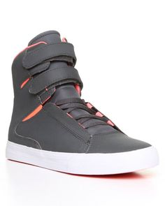 Society Charcoal Satin TUF Sneakers by Supra- The Society is my favorite shoe design maybe ever
