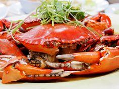 Steamed mud crabs from Gayang Seafood Restaurant in Kota Kinabalu, Malaysia.