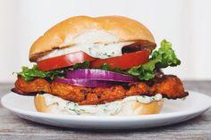buffalo ranch cauliflower sandwich #vegan   RECIPE on hotforfoodblog.com