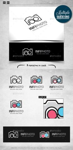 Infinite Photography  Logo Template — Vector EPS #camera #movie • Available here → https://graphicriver.net/item/infinite-photography-logo-template/9800777?ref=pxcr