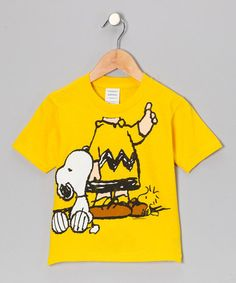 Take a look at this Yellow Charlie Brown Tee - Toddler by Peanuts by Charles Shultz on #zulily today!