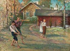 Väinö Hämäläinen (1876-1940) Boys At Play - Finland