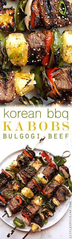 Korean Beef Kabobs (Bulgogi)