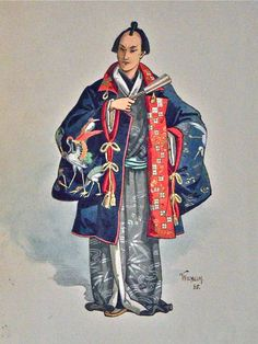 Old Kimonos. Historically Japanese Costume, Samurai.