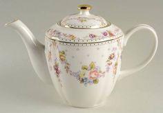 Grace's Teaware Rose Swag Teapot & Lid