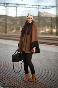 Cozy wool cape