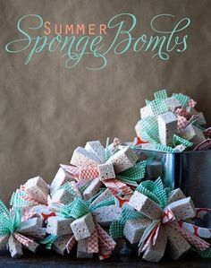 Sponge bombs! You could make another version just for the shower/bath. by margarett