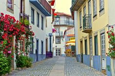 Street in Almeida, small town Places In Portugal, Visit Portugal, Portugal Travel, Spain And Portugal, Portugal Country, Places Around The World, Around The Worlds, World Cities, Famous Places