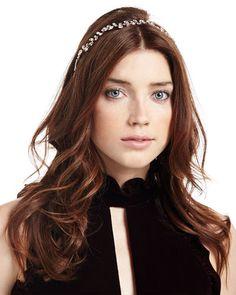 Vera Crystal Leaf Circlet Headband