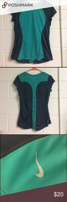 Nike Running Shirt Nike Green and Grey Running shirt, great fit, Dri Fit, amazing condition Nike Tops Tees - Short Sleeve