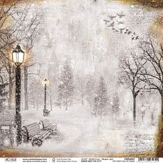 Ciao Bella Rice Paper Sheet - First Fall Of Snow, Snow & The City. Discover more accessories by Ciao Bella at LoveCrafts. From knitting & crochet yarn and patterns to embroidery & cross stitch supplies! Shop all the craft materials you need to st Inka Gold, Paper Art, Paper Crafts, Scrapbook Patterns, Christmas Topper, Finger Lights, Cross Stitch Supplies, Little Falls, Halloween Books
