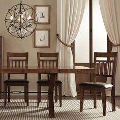 TRIBECCA HOME Inverness Warm Oak Cushioned Mission Dining Chair (Set of 2) - Overstock™ Shopping - Great Deals on Tribecca Home Dining Chairs