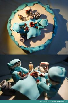Yes, this is a cake. Perfect for surgeons