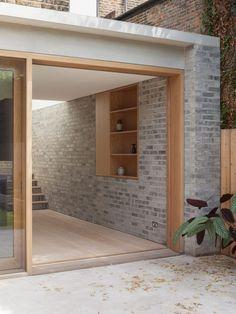 Al-Jawad Pike Private House, Stoke Newington, London — Architecture House Design, House, Brick Extension, House Exterior, Exterior Design, London House, New Homes, Brick, Timber Windows