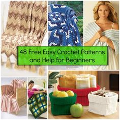 48 Free Easy Crochet Patterns and Help for Beginners | FaveCrafts.com