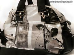 Geo and More: Kugeltasche London London, Sewing Hacks, Geo, Gym Bag, Bags, Fashion, Oilcloth, Handarbeit, Crafting