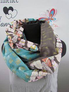 52bc17db7db4 foulard infini femme large 70 pouces de long motif de plume