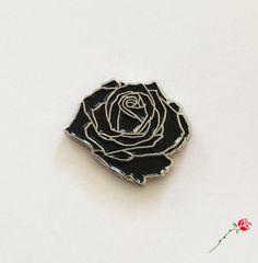 Image of Black Rose Pin