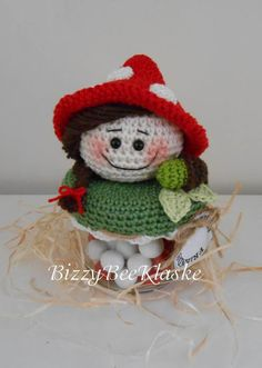Bizzy Bee Klaske: Pake en Beppe Crochet Cozy, Crochet Fall, Crochet Jar Covers, Beaded Ornaments, Jar Lids, Drops Design, Beautiful Crochet, All Things Christmas, Crochet Patterns