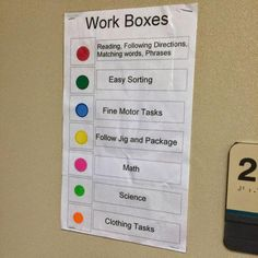 Awesome way to organize and group task boxes - easy to identify at a glance (once you ... - http://goo.gl/XlfL1y