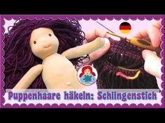 DIY | How to: Puppenhaare im Schlingenstich häkeln | Sami Doll Tutorials - YouTube