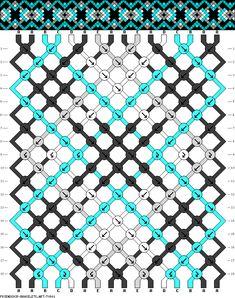 Muster # 70901, Streicher: 16 Zeilen: 18 Farben: 5