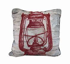Elk Mountain Lantern Plaid Reversible Throw Pillow 17 in.