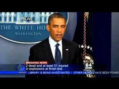 President Barack Obama Press Conference On Boston Explosions