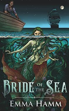 Bride of the Sea by Emma Hamm | reading, books, book covers, cover love, mermaids, mermen