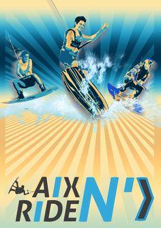 Maquette affiche Aix N' Ride by Hervé Miguet