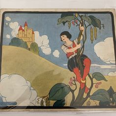 Excited to share this item from my shop: Jack and the Beanstalk, Little Tots Nursery Tunes, Signed by the artist, Maude Trube. Dated Vintage Ephemera, Womans Weekly, Jack And The Beanstalk, Vintage Ephemera, Vintage Buttons, Blue Fabric, French Vintage, Nursery, Artist, Painting