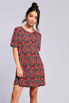 9eee14da88   Printed T-Shirt Dress by Glamorous - Topshop. Carousel Image 0 Glamorous  Dresses ...