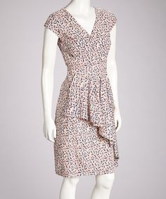 Take a look at this Pink & Blue Jin Ju Ruffle Dress on zulily today!