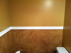 1/2 Bath after painting.  Ugly no more!