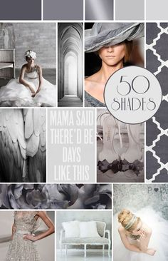 Fifty Shades of Grey Wedding Moodboard