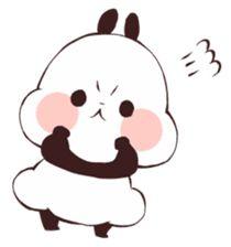 Panda Kawaii, Panda Lindo, Baby Hamster, Cute Panda Wallpaper, Panda Wallpapers, Panda Love, Typographic Poster, Cute Memes, Line Sticker