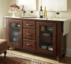 Sumner Buffet #potterybarn.  Would be great to find something similar at an auction