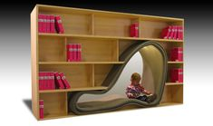 Cave—a bookcase made of wood and a foam cushion—by Japanese designer Sakura Adachi is meant to give readers a private lounging space within ...