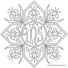Hand Embroidery Pattern: Cross & Lilies – Needle'nThread.com
