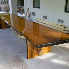 Custom Made Large Live Edge Table