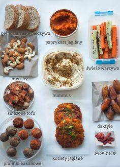 jadłonomia · roślinne przepisy: Wege przekąski na wakacje Tofu, Hummus, Vegetarian Recipes, Muffin, Breakfast, Drink Recipes, Vegan Food, Free, Morning Coffee