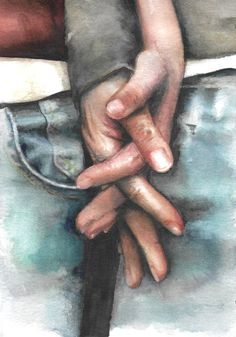 for sale original watercolor painting / loving couple / by HelgaMcL on Etsy Watercolor Art Lessons, Watercolor Art Diy, Watercolor Art Paintings, Watercolours, Painting Love Couple, Art Love Couple, Couple Ideas, Couple Holding Hands, Original Art