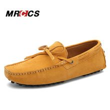 MRCCS hombres Mocasines Casuales de Cuero De Gamuza 38-45, Primavera Verano Otoño de Los Holgazanes Suaves, cómoda Conducción Diaria Zapatos Para Caminar