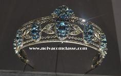 Noiva com Classe: Exposição Cartier Paris 2013-2014: Tiaras  A Laurel tiara (folhas de louro) da Cartier de 1930. Possui água-marinhas e diamantes.