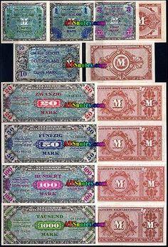 german money | 10 20 50 100 mark
