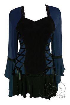 Dare To Wear Victorian Gothic Women's Plus Size Bolero Corset Top Midnight