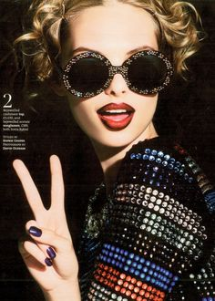 a10b5104bef Matchy-matchy...Sonia Rykiel sunnies and bejewelled top Ray Ban Sunglasses  Outlet